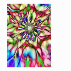 Magic Fractal Flower Multicolored Small Garden Flag (Two Sides)