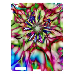 Magic Fractal Flower Multicolored Apple iPad 3/4 Hardshell Case