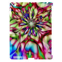 Magic Fractal Flower Multicolored Apple iPad 3/4 Hardshell Case (Compatible with Smart Cover)