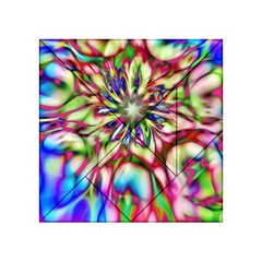 Magic Fractal Flower Multicolored Acrylic Tangram Puzzle (4  x 4 )
