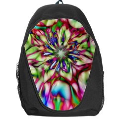 Magic Fractal Flower Multicolored Backpack Bag