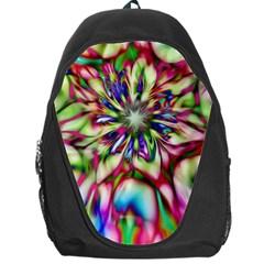 Magic Fractal Flower Multicolored Backpack Bag