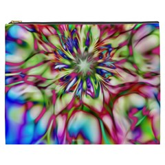 Magic Fractal Flower Multicolored Cosmetic Bag (XXXL)