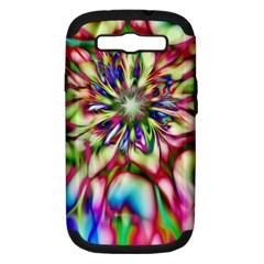 Magic Fractal Flower Multicolored Samsung Galaxy S III Hardshell Case (PC+Silicone)