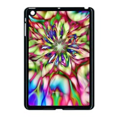 Magic Fractal Flower Multicolored Apple iPad Mini Case (Black)