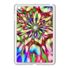 Magic Fractal Flower Multicolored Apple iPad Mini Case (White)