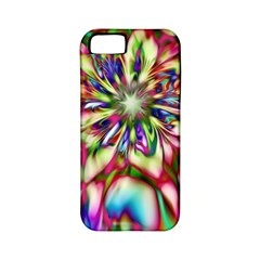Magic Fractal Flower Multicolored Apple iPhone 5 Classic Hardshell Case (PC+Silicone)