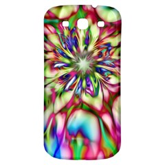 Magic Fractal Flower Multicolored Samsung Galaxy S3 S III Classic Hardshell Back Case
