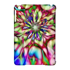 Magic Fractal Flower Multicolored Apple iPad Mini Hardshell Case (Compatible with Smart Cover)
