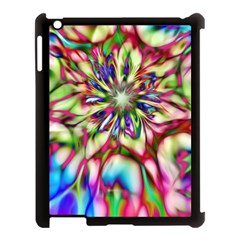 Magic Fractal Flower Multicolored Apple iPad 3/4 Case (Black)