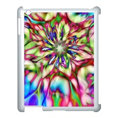 Magic Fractal Flower Multicolored Apple iPad 3/4 Case (White)