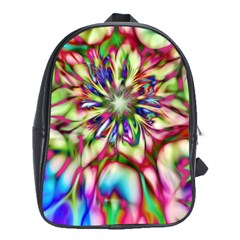 Magic Fractal Flower Multicolored School Bags (XL)