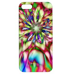 Magic Fractal Flower Multicolored Apple iPhone 5 Hardshell Case with Stand