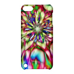 Magic Fractal Flower Multicolored Apple iPod Touch 5 Hardshell Case with Stand