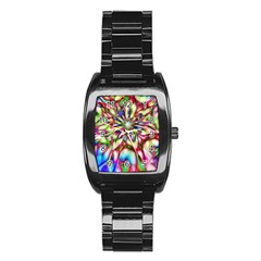 Magic Fractal Flower Multicolored Stainless Steel Barrel Watch