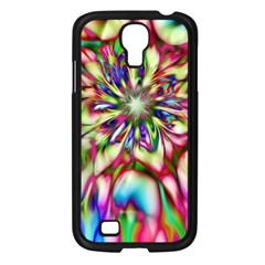 Magic Fractal Flower Multicolored Samsung Galaxy S4 I9500/ I9505 Case (Black)