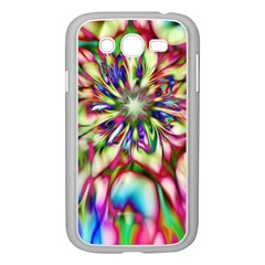 Magic Fractal Flower Multicolored Samsung Galaxy Grand DUOS I9082 Case (White)