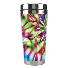 Magic Fractal Flower Multicolored Stainless Steel Travel Tumblers