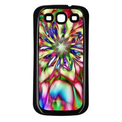 Magic Fractal Flower Multicolored Samsung Galaxy S3 Back Case (Black)