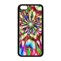 Magic Fractal Flower Multicolored Apple iPhone 5C Seamless Case (Black)