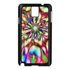 Magic Fractal Flower Multicolored Samsung Galaxy Note 3 N9005 Case (Black)