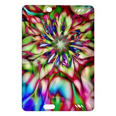 Magic Fractal Flower Multicolored Amazon Kindle Fire HD (2013) Hardshell Case