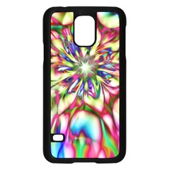 Magic Fractal Flower Multicolored Samsung Galaxy S5 Case (Black)