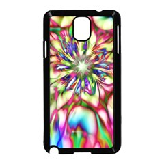 Magic Fractal Flower Multicolored Samsung Galaxy Note 3 Neo Hardshell Case (Black)
