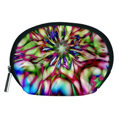 Magic Fractal Flower Multicolored Accessory Pouches (Medium)