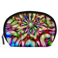 Magic Fractal Flower Multicolored Accessory Pouches (Large)