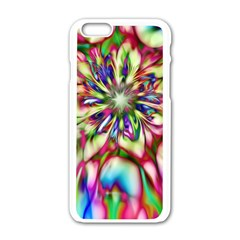 Magic Fractal Flower Multicolored Apple iPhone 6/6S White Enamel Case