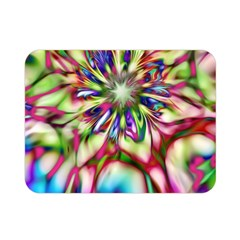 Magic Fractal Flower Multicolored Double Sided Flano Blanket (Mini)