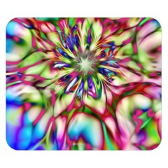 Magic Fractal Flower Multicolored Double Sided Flano Blanket (Small)