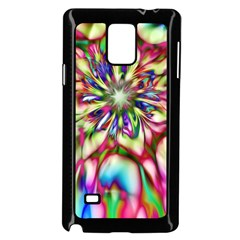 Magic Fractal Flower Multicolored Samsung Galaxy Note 4 Case (Black)