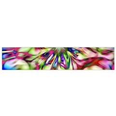 Magic Fractal Flower Multicolored Flano Scarf (Small)