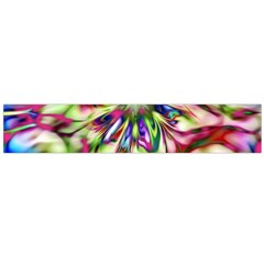 Magic Fractal Flower Multicolored Flano Scarf (Large)