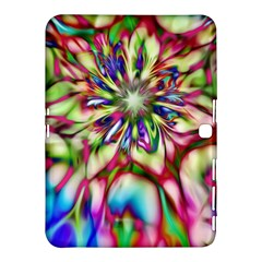 Magic Fractal Flower Multicolored Samsung Galaxy Tab 4 (10.1 ) Hardshell Case