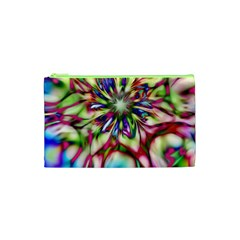 Magic Fractal Flower Multicolored Cosmetic Bag (XS)