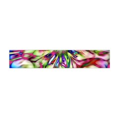 Magic Fractal Flower Multicolored Flano Scarf (Mini)