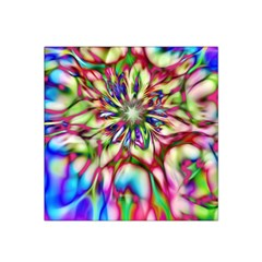 Magic Fractal Flower Multicolored Satin Bandana Scarf