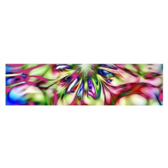 Magic Fractal Flower Multicolored Satin Scarf (Oblong)