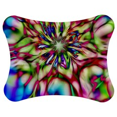 Magic Fractal Flower Multicolored Jigsaw Puzzle Photo Stand (Bow)