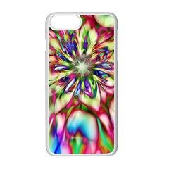 Magic Fractal Flower Multicolored Apple Iphone 7 Plus White Seamless Case