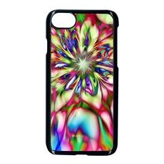 Magic Fractal Flower Multicolored Apple Iphone 7 Seamless Case (black)