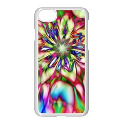 Magic Fractal Flower Multicolored Apple iPhone 7 Seamless Case (White)