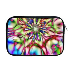 Magic Fractal Flower Multicolored Apple Macbook Pro 17  Zipper Case