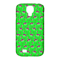 Floral pattern Samsung Galaxy S4 Classic Hardshell Case (PC+Silicone)