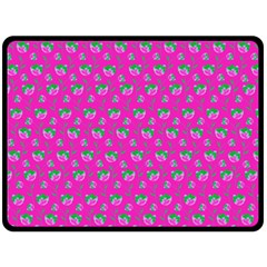 Floral pattern Fleece Blanket (Large)