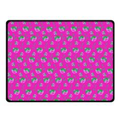Floral pattern Fleece Blanket (Small)