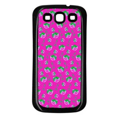 Floral pattern Samsung Galaxy S3 Back Case (Black)